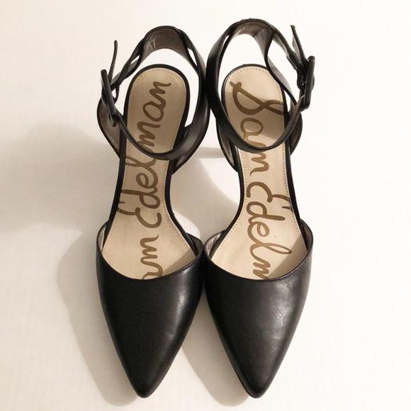 f690304878508c Sam Edelman Shoes - Sam Edelman Black Heels Ankle Strap Size 6.5